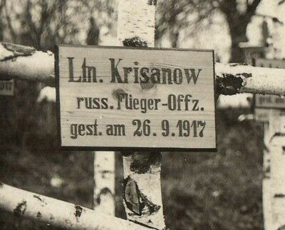 Imperial Russian WWI Air Service Fighter Pilot Krisanov Grave 1917 Photo