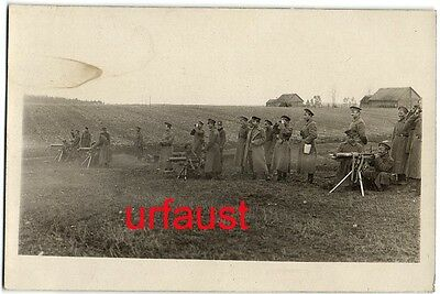 Imperial Russian WWI Soldiers with Maxim MG Photo