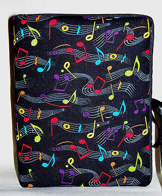"""Musical Notes Colored Handcrafted Handmade Photo Album Holds 80 4""""X6"""" - NEW"""