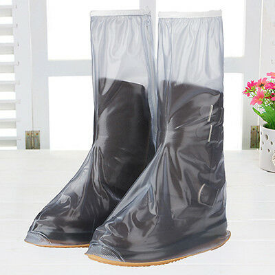 Male female Frosted Tall PVC Waterproof Rain Shoes Non-slip Shoe Covers M-XXL
