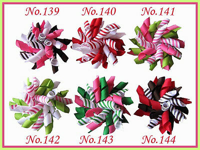 "100 BLESSING Good Girl Boutique Custom 2.5"" Corker Hair Bows Clip 252 No."