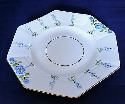 MELBA Bone China - CAKE or BISCUIT PLATE  - BLUE FLOWER (#3743) - Very Good