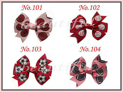 """50 BLESSING Girls Custom 3-3.5"""" Boutique Hair Bow Clip 3 Styles"""