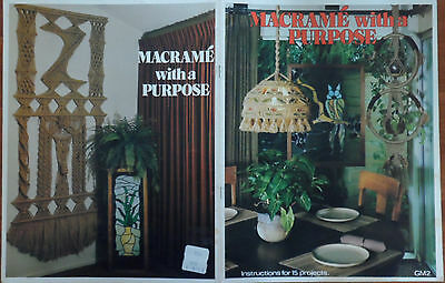 Macrame With A Purpose Knot Tying  Hippie Craft Pattern Book 15 Projects 19 Page