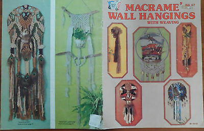 Macrame Wall Hangings Knot Tying  Hippie Craft Pattern Book With Weaving 15 Pgs
