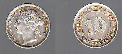 1290 # Straits Settlements - Victoria Queen - 10 Cents 1894 - Silver - Bb