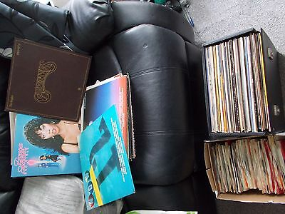 VINYL RECORD COLLECTION OVER 180 ITEMS - LP 12'' + 7'' & casettes