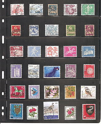 A  Sheet Of   30 Switzerland   Fine Used   Stamps