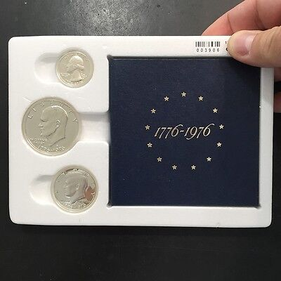 1776 - 1976 Bicentennial US Silver Proof Coin Set of 3