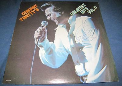 RARE Conway Twitty (d.1993) Greatest Hits Vol.II Country Signed Vinyl © 1976 COA