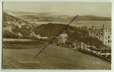 tp1016 - Barmouth from the west , Merionethshire , Wales - postcard