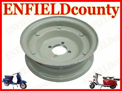 "NEW VESPA PRIMER COATED 8"" x 2.15"" WHEEL RIM WITH 4 BOLTING HOLES @CAD"