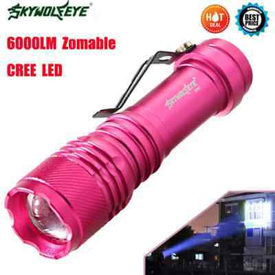 6000LM CREE Q5 AA/14500 3 Modes ZOOMABLE LED Flashlight Torch Lamp Bright HOT7