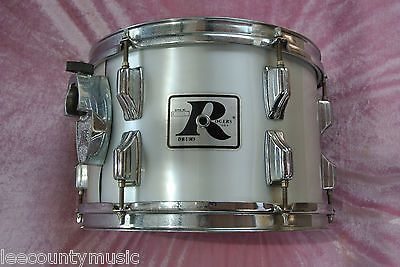 "1970's Rogers USA 12"" METALLIC SILVER MEMRILOC TOM for YOUR DRUM SET! #T658"
