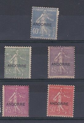 ANDORRA (SF1154)  SG F11-15 - 1931 Sower values Usual brown gum