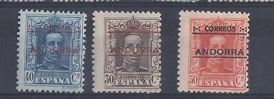 ANDORRA (SF1165) SG 8A - 10A - 1928 Perf 12 x 11.5 - Extremely lightly hinged