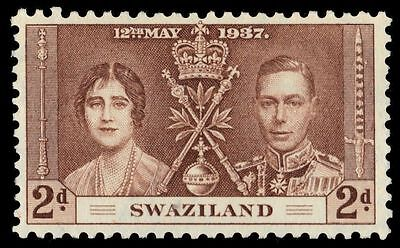 SWAZILAND 25 (SG26) - King George VI Coronation (pa38399)