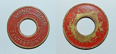 OLD SYDNEY TOWER CENTREPOINT- BRASS TOKEN (with Central Hole)