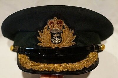 Canadian Forces RCN Navy Officers Peak Cap Hat Unification