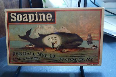 Soapine Kendall Mfg. Providence R.i. Whale Trade Card
