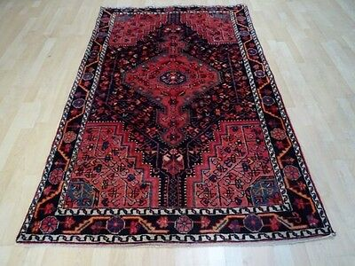 """PERSIAN CARPET RUG HAND MADE Antique WOOL 6ft 9"""" x 4ft 3"""" oriental traditional"""