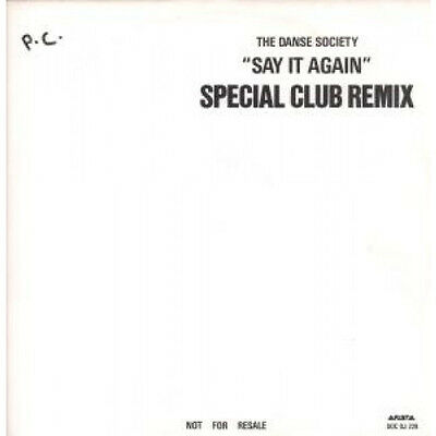 """DANSE SOCIETY Say It Again 12"""" VINYL 3 Track Promo Featuring Special Edition C"""