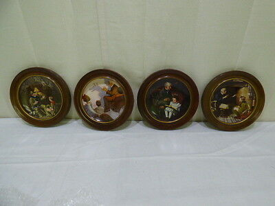 Knowles Norman Rockwell's Heritage Collection Framed Plates Lot of 4