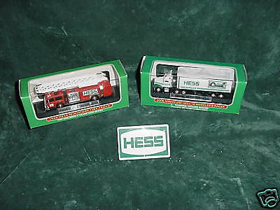 Two Your Choice  Mini 1999  2006  Hess Toy Trucks Graduation Birthday Vacation