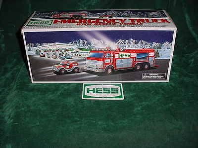 Christmas  Day Gift 2005 Hess Red Emergency Truck & Rescue Vehicle Toys Trucks