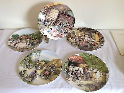 Collection of 5 Royal Doulton Decorative Plates - Old Country Crafts Series