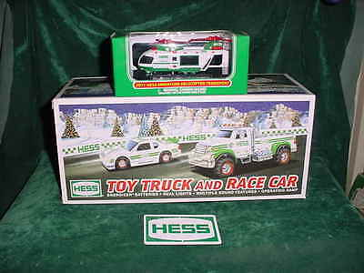 Graduation  Trucks 2011 Hess Toy Trucks & Race Car + The  Hess Mini Helicopter