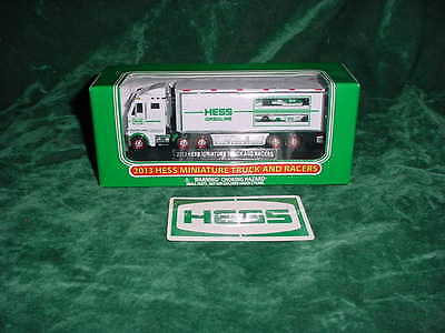 2013 Hess Toy Trucks Vacation Holiday Gift Miniature Truck And Racers Truck Toys