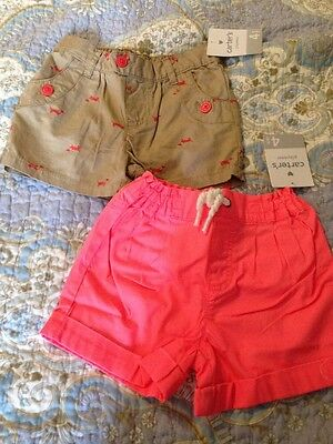 NWT Carter's Girl Size 4 Shorts New