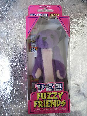 "PEZ FUZZY FRIENDS Dispenser Gilbert Bear Big 5"" Box Collectable Born 1/10/2000"