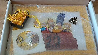 The Simpsons 20 Years limited edition print pin promo promotional 20th year  dvd