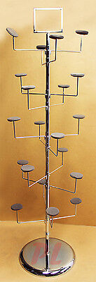 Chrome 10 Layers Hat Tree Rack 20 hangers Retail Display Clothes Hanger Storage