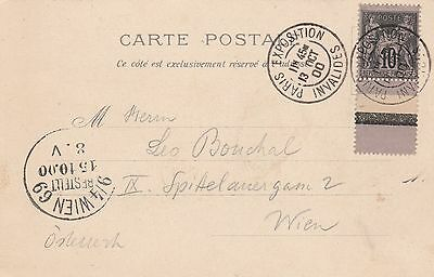 France cachet Paris Exposition Invalides sur carte postale 1900