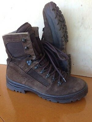 Size 10 suede brown combat high liability desert meindl boots!v/g condition