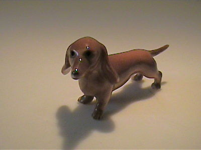 Vintage 1960's Miniature Bone China Dachshund Dog - Kelvin Japan