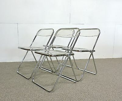Set Of Four Original Castelli Plia Folding Chairs Mid Century Modern