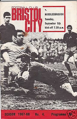 Bristol City V Middlesbrough 2Nd Division     5/9/67