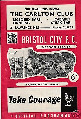Bristol City V Portsmouth  2Nd Division    2/4/66