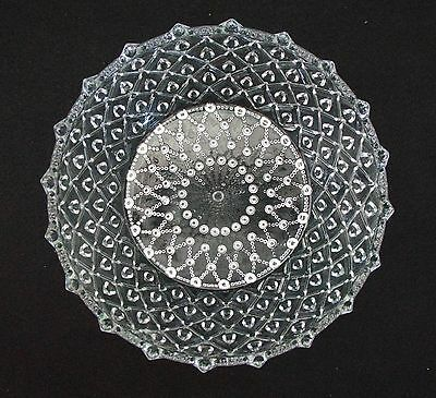 """Diamond Jeweled Patterned BOWL. Top + Bottom with Rounded  Edges. 10"""" D. MINT"""