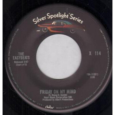 "EASYBEATS Friday On My Mind 7"" VINYL Silver Spotlight Series Reissue B/w Gonna"