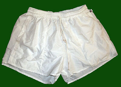 Russell Athletic vintage running tennis shorts L white nylon