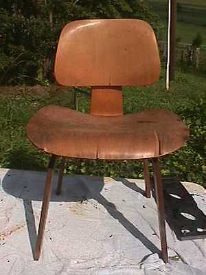 Eames Evans Herman Miller Early DCW Lounge Chairs