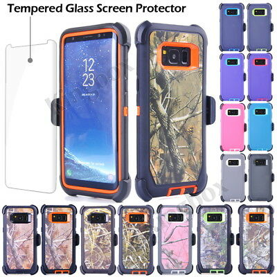 For Samsung Galaxy S8 Plus Rugged Shockproof Case Cover, Belt Clip fits Otterbox
