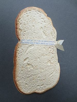 Antique Greetings Card Diecut Embossed Novelty Slice of Bread Victorian Old