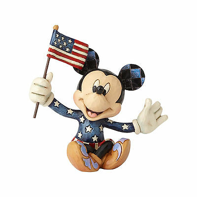 Disney Traditions Jim Shore 2017 Patriotic MICKEY MOUSE Mini Figurine 4056743