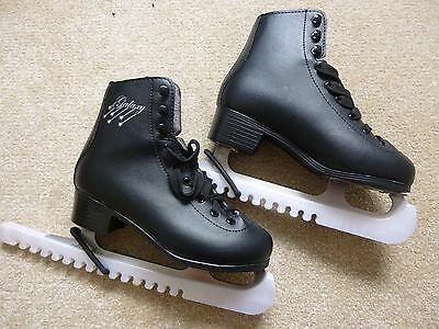 Black SFR Galaxy Ice Skates Size 3 Excellent Condition